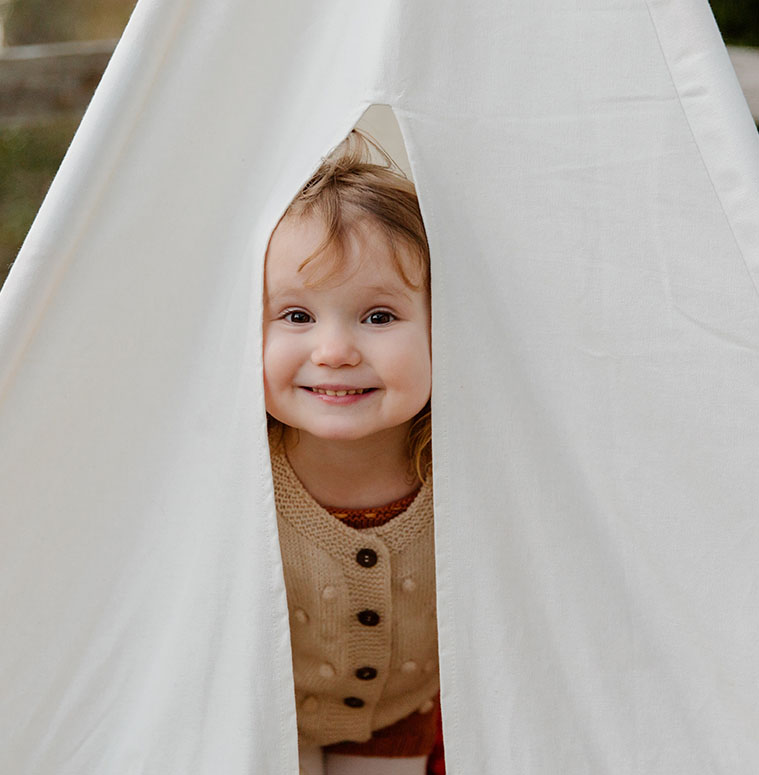 Child Inside a Tent