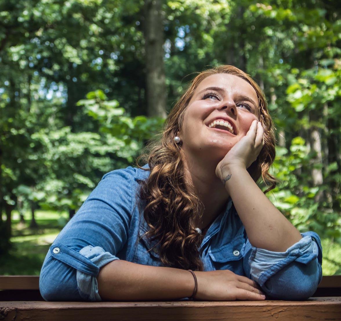 Teenage Woman Smiling